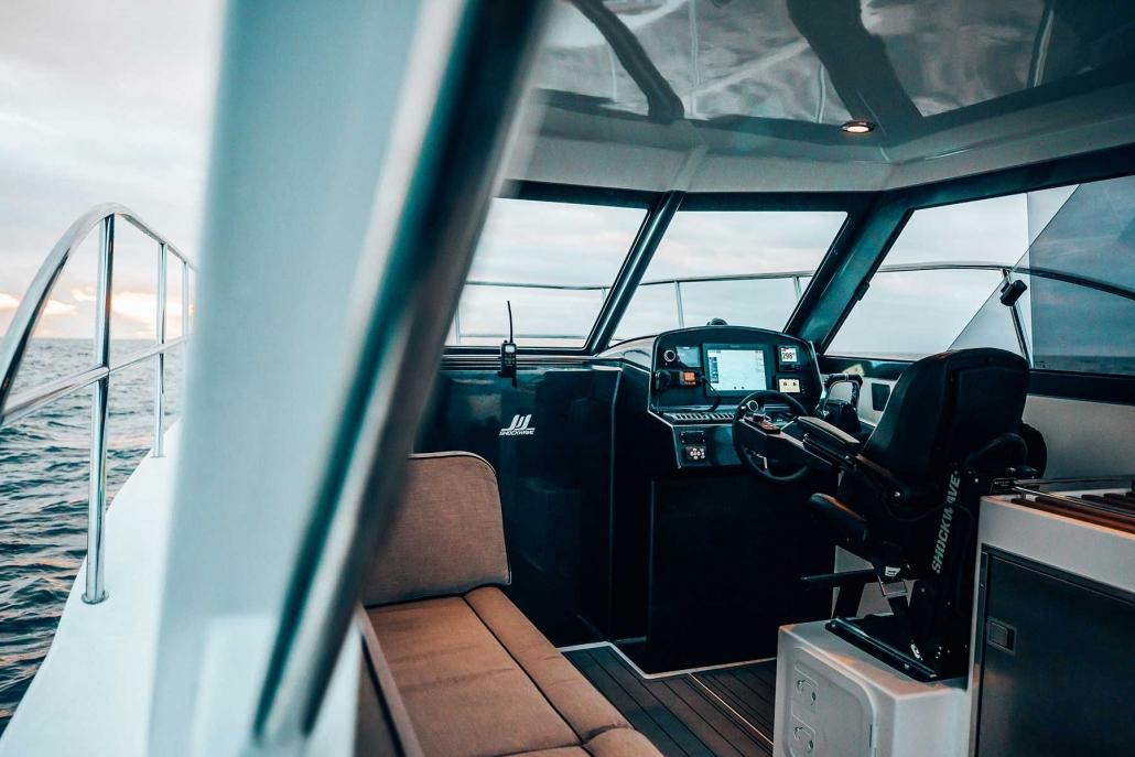 Shockwave Marine, interior Breaksea Series. Photo Rae Fallon